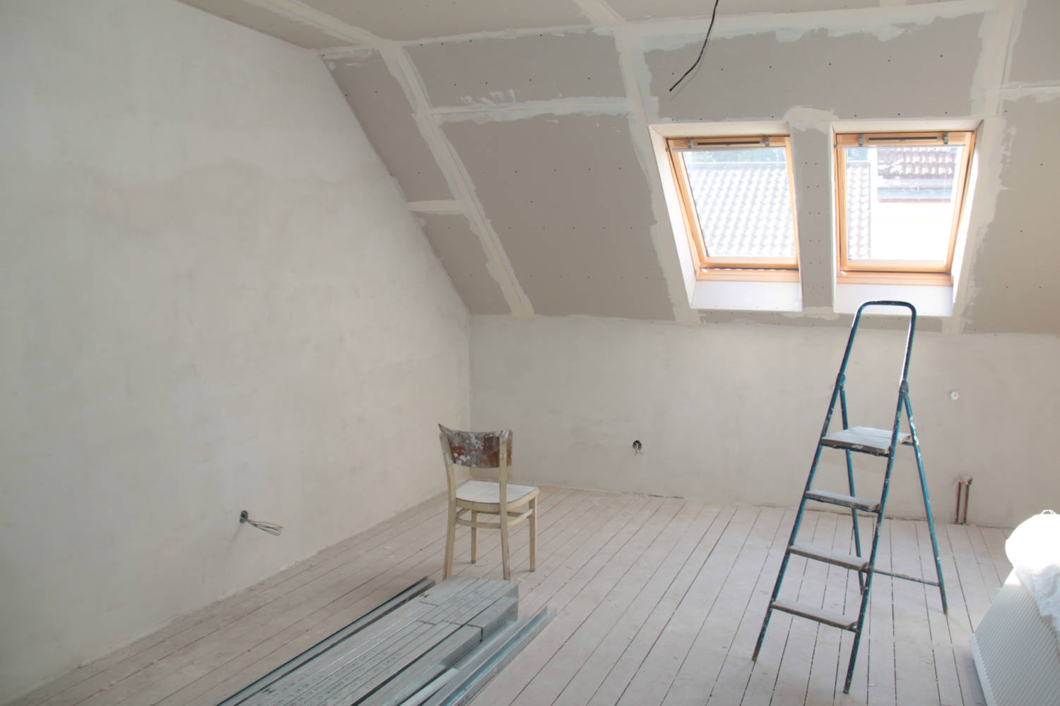 attic being remodeled