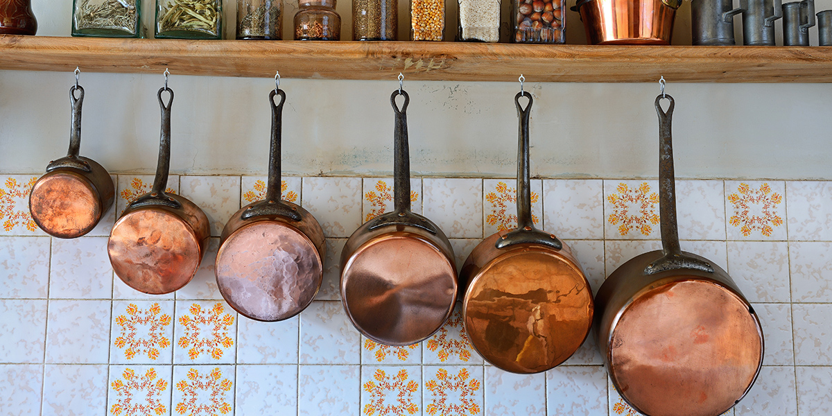 old style saucepans